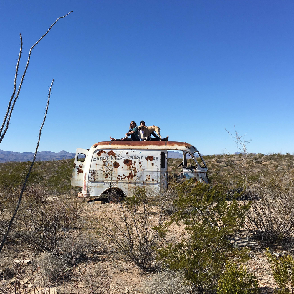 Going into the wild on the way to Chinati Hot Springs near Marfa.