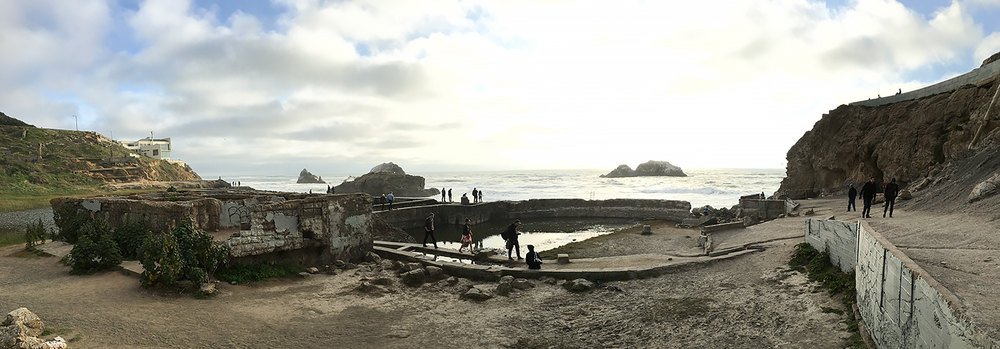 What remains of the Sutro Baths.