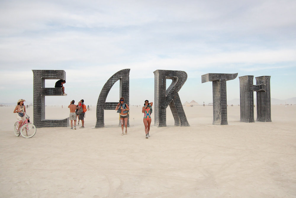"E ""art"" h installation on The Playa."
