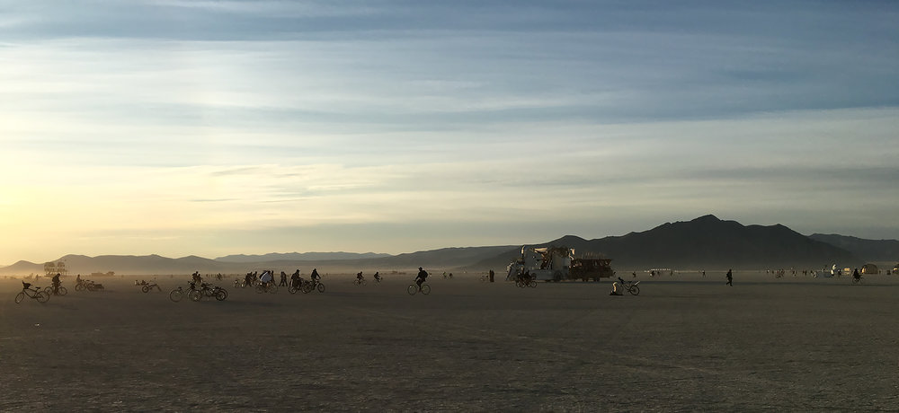The Playa at sunset.