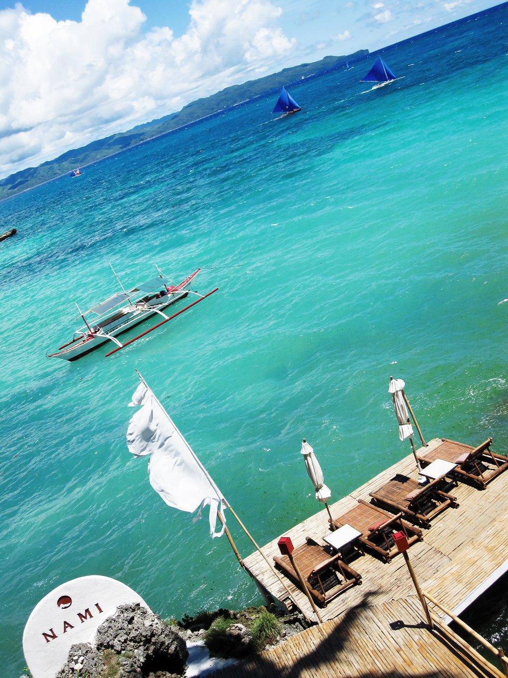 View from Nami Resort in Boracay