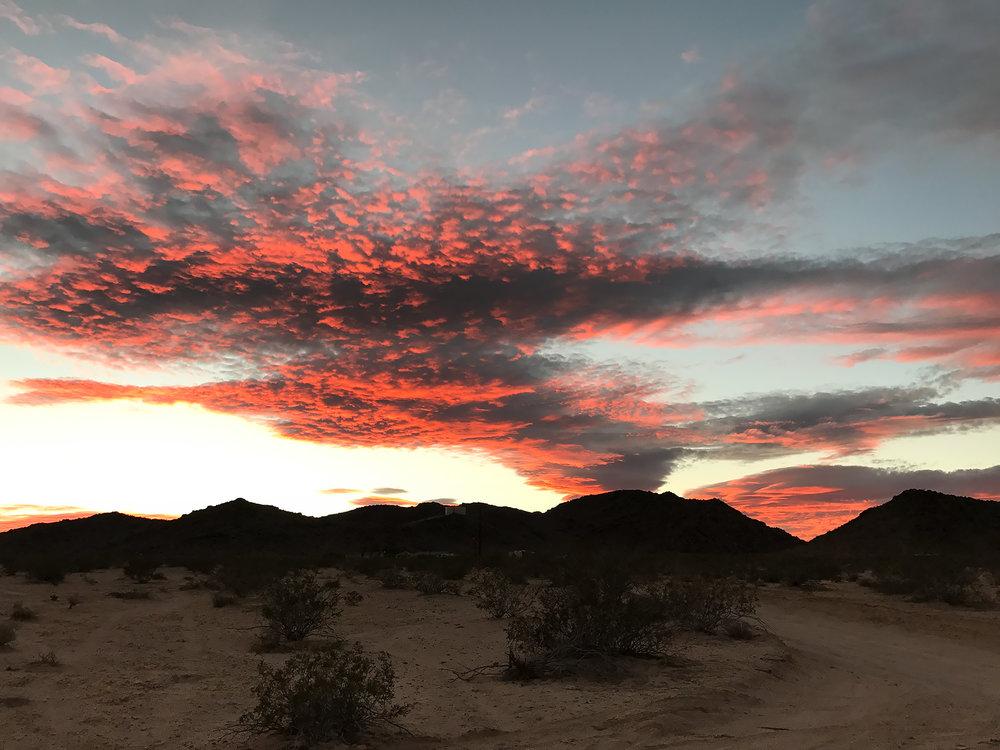 Sunset at Mountain Shadow Cabin, Joshua Tree