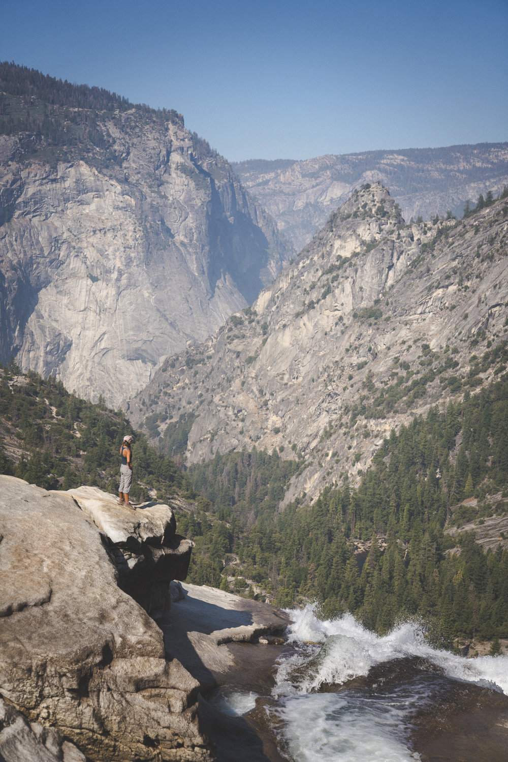 Looking out from the top of Nevada Fall. Photo by Mike Struna  @designms