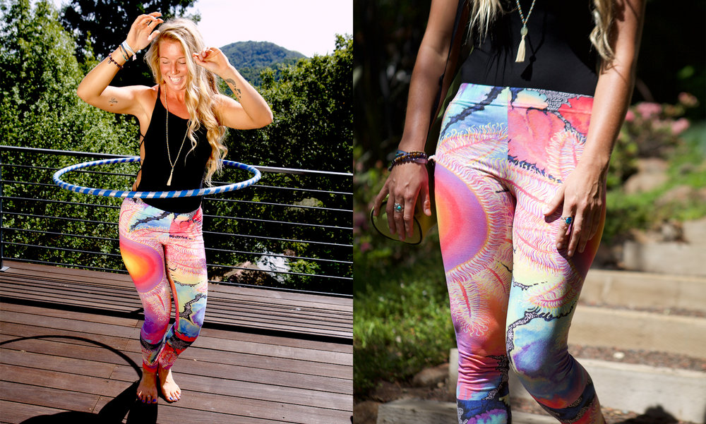 Kaleidoscope Sun Cut & Sew Sport Leggings