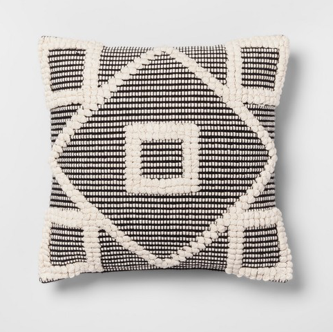 Black Diamond Throw Pillow - Opalhouse, $19.99