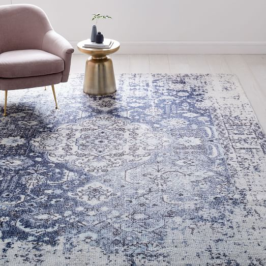 Moroccan Rug in Navy