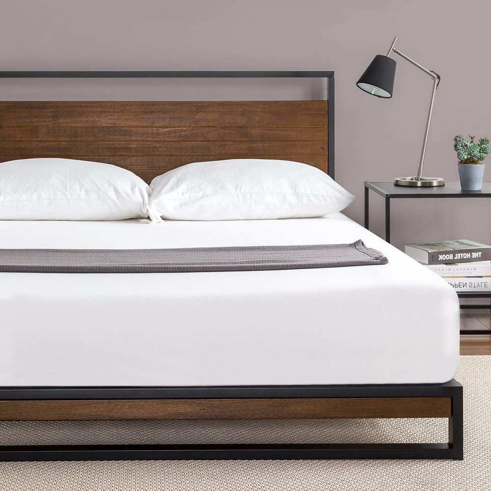 Metal & Wood Platform Bed, $169.99