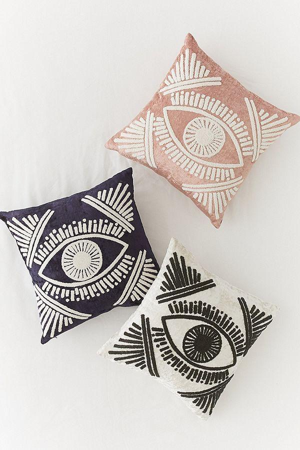 Magic Eye Velvet Throw Pillow, $49 each