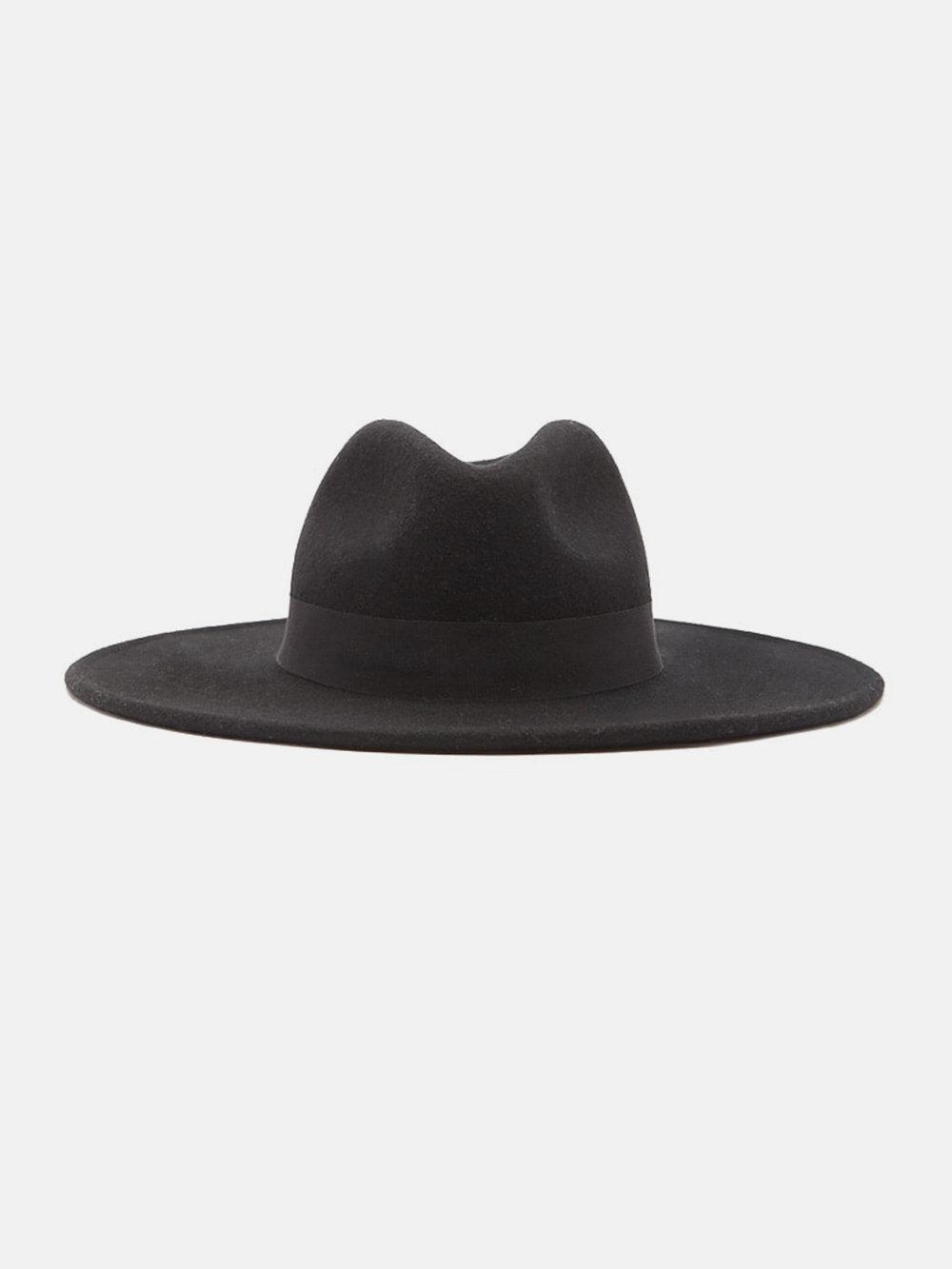 Wool Wide-Brim Fedora, $22.90