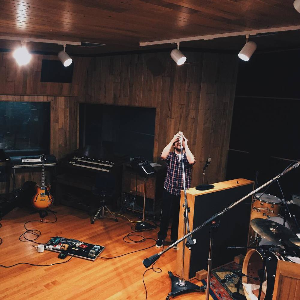 In the studio all week! I can't wait to share these songs with you guys.     Joel will have Periscope up all day @joelgonewild  (at Big Fish Recording Studio)