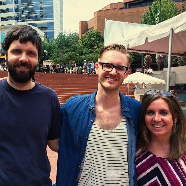 My shows at Pioneer were nearly perfect. Their success would not have been possible without these two people. Jeff and Tamara helped load/unload, setup for our rehearsal times, park cars, mix monitors, and do any odd job in between. I love my friends and am so thankful for them.  (at Pioneer Courthouse Square)