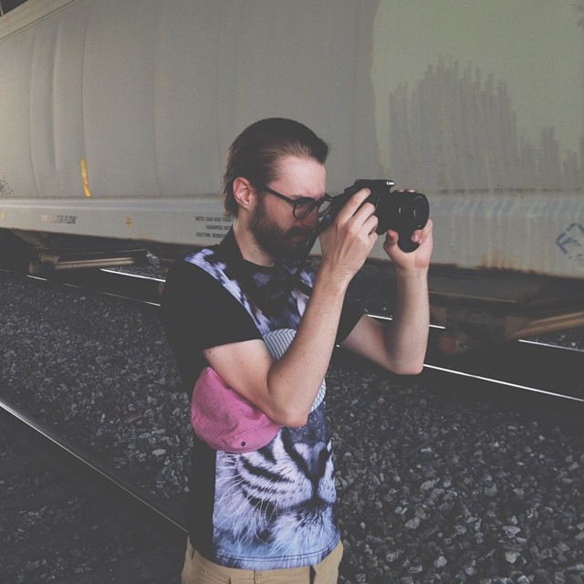 Joel is a cool guy. And my brother. And my roommate. We photographed some trains.  (at The Gulch)