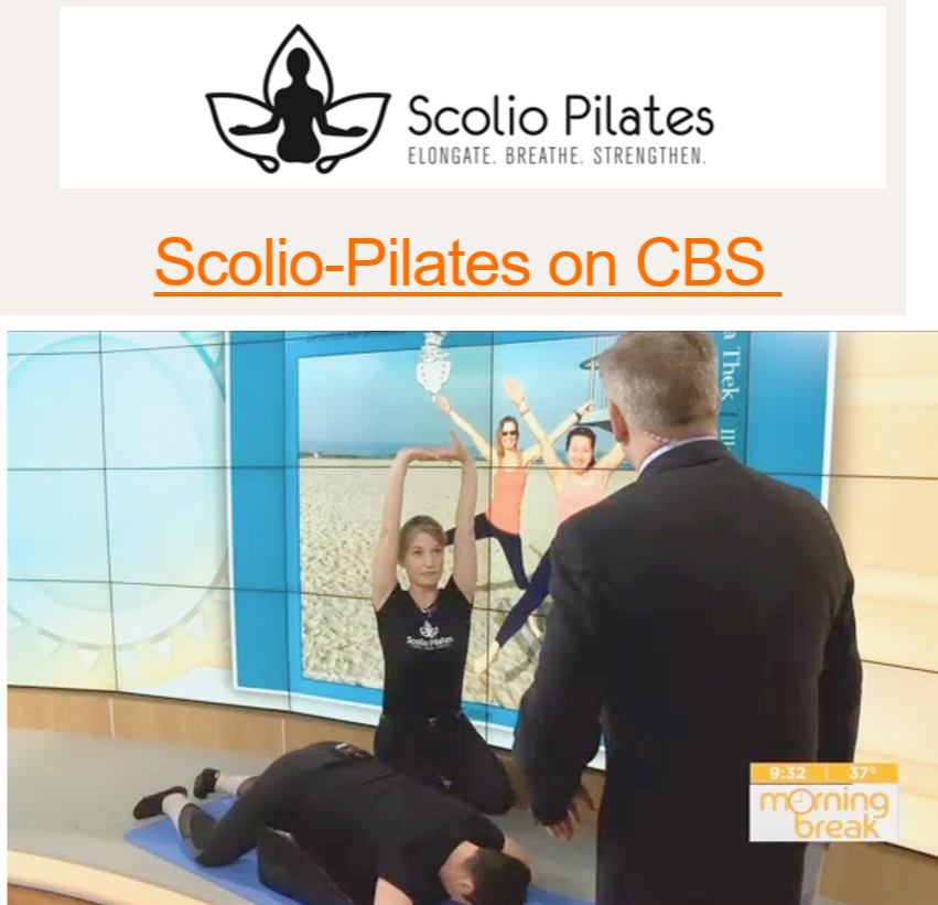 Scolio-Pilates® - Founder of Scolio-Pilates®, Karena Thek, was featured on CBS' Morning Break. She demonstrates the techniques and benefits of this unique Pilates method. Victoria of Mogo Pilates is the only certified Scolio-Pilates® instructor in Minnesota and has helped many of her students with scoliosis. Click here to watch full video.