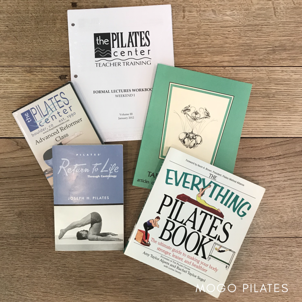 Workbooks, recommended reading, and videos are just a few of the resources included in The Pilates Center's classical Pilates training program at Mogo Pilates.