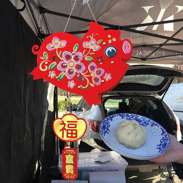 Today only @vanmarkets Hastings Park - in honour of the Lunar New Year - Vegan Chinese 5 Spice Jackfruit Steamed Buns! #whatveganseat #gunghayfatchoy #lunarnewyear #yearofthepig #jackfruit