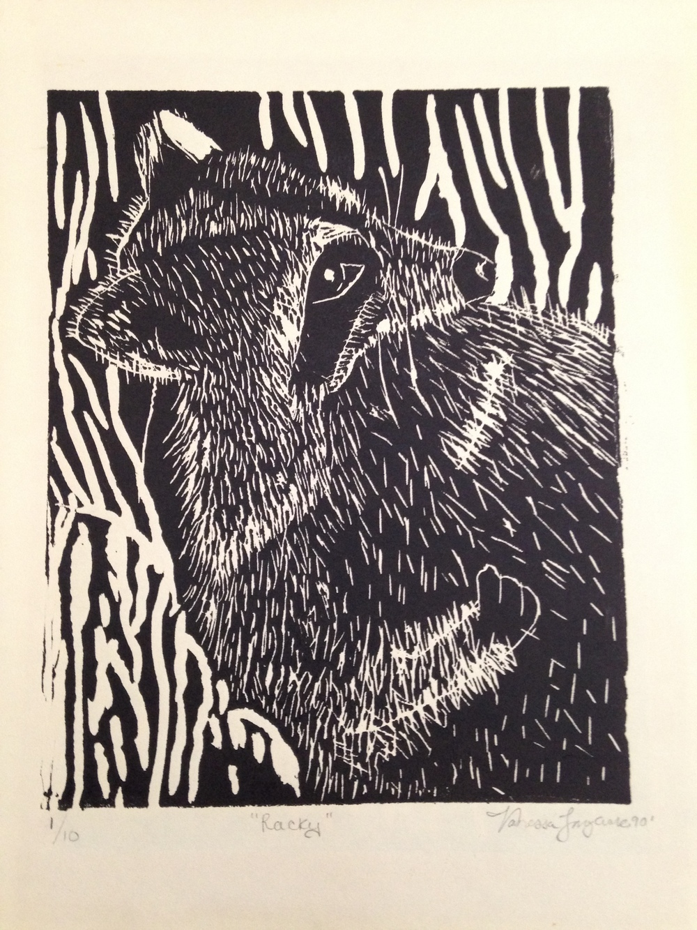 "Figure  6 : Linoleum print. Age: 16, ""Racky"" really?"