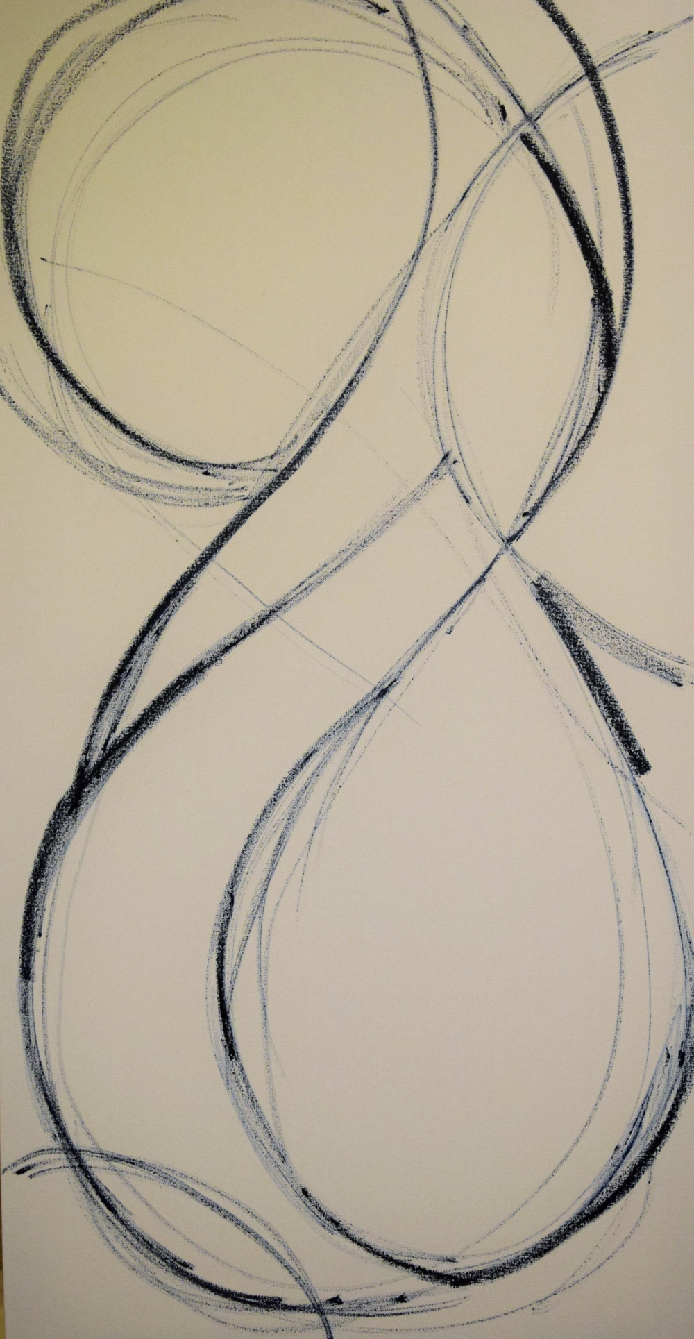 Figure  1 : Sketch. Oil stick on canvas.