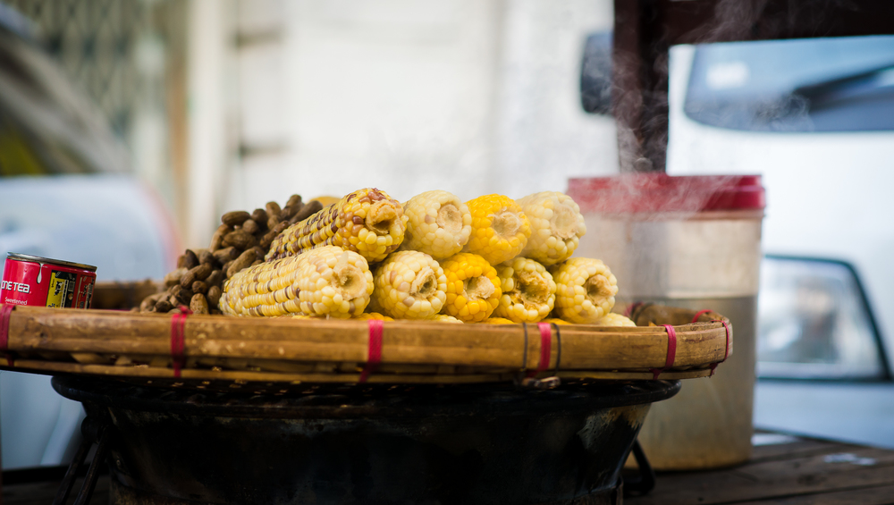 Corn vendor. Yangon, Myanmar