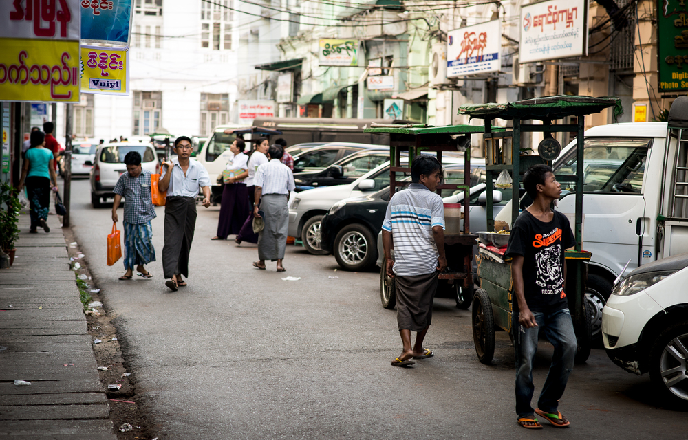 Street scene. Yangon, Myanmar