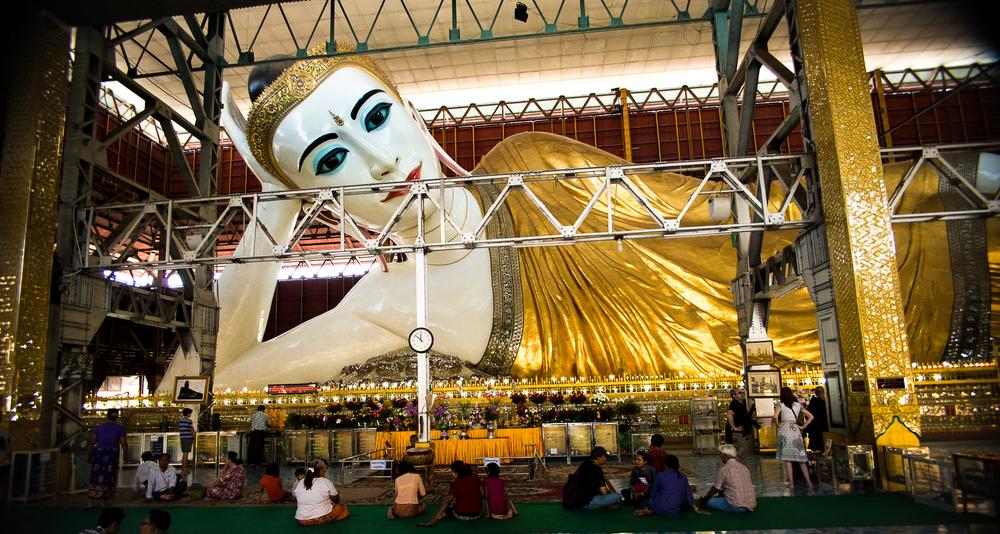 Reclining Buddha. Yangon, Myanmar