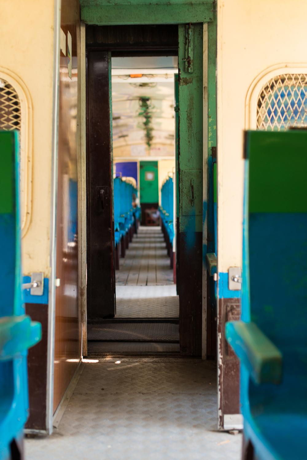 Circle Train. Yangon, Myanmar