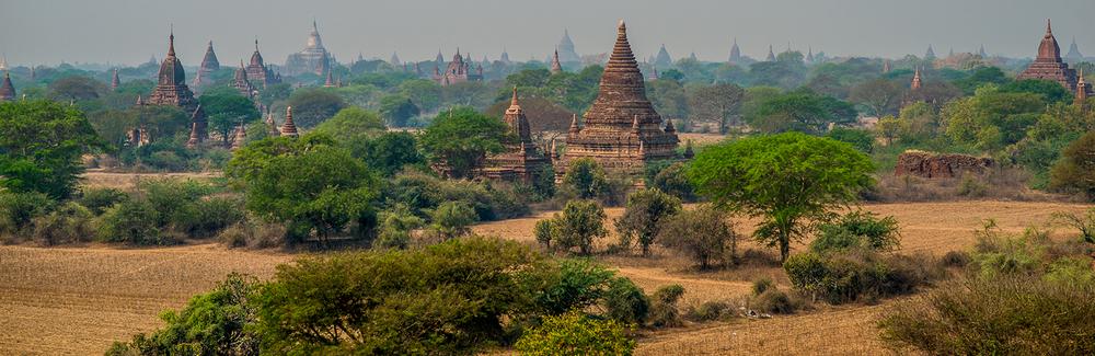 Temples At Bagan. Bagan, Myanmar