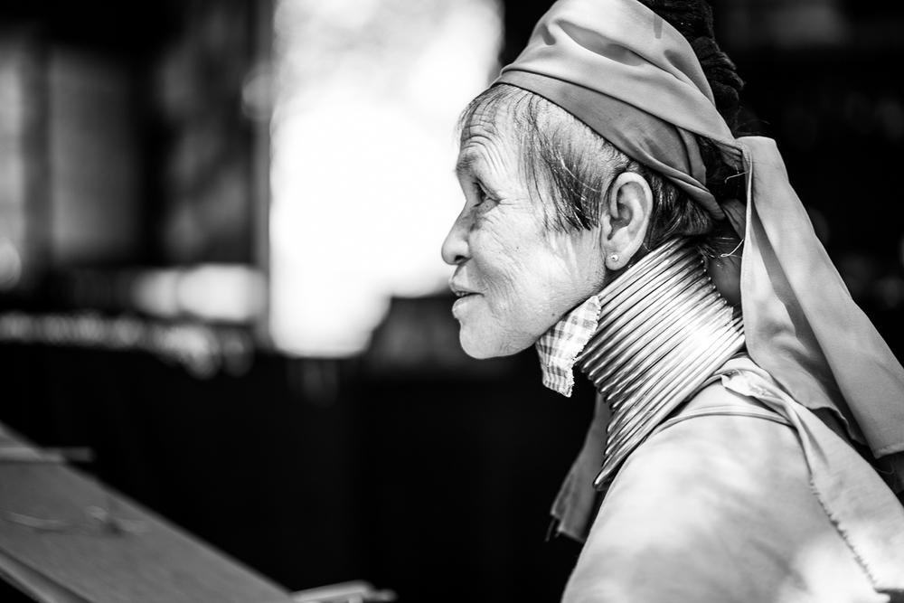 Local Woman with Neck Rings. Bagan, Myanmar