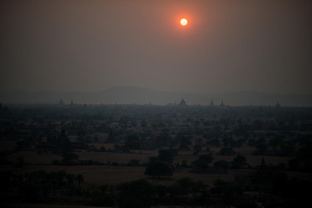 Sunset At Bagan. Bagan, Myanmar