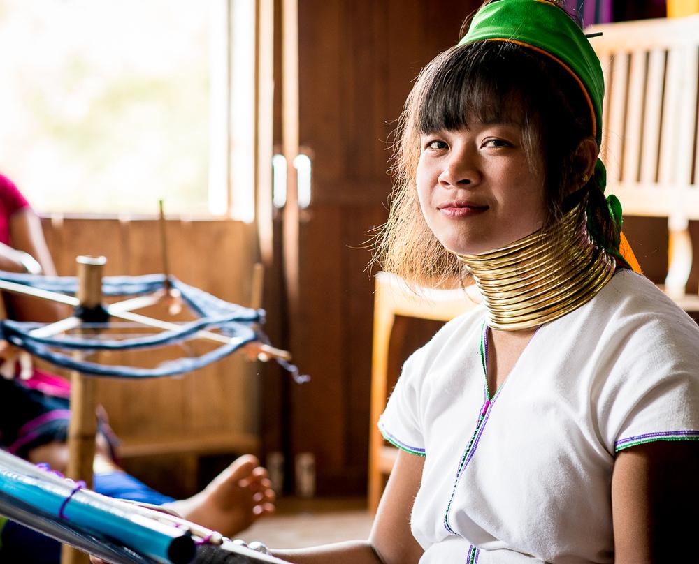 Long neck girl. Inle Lake, Myanmar