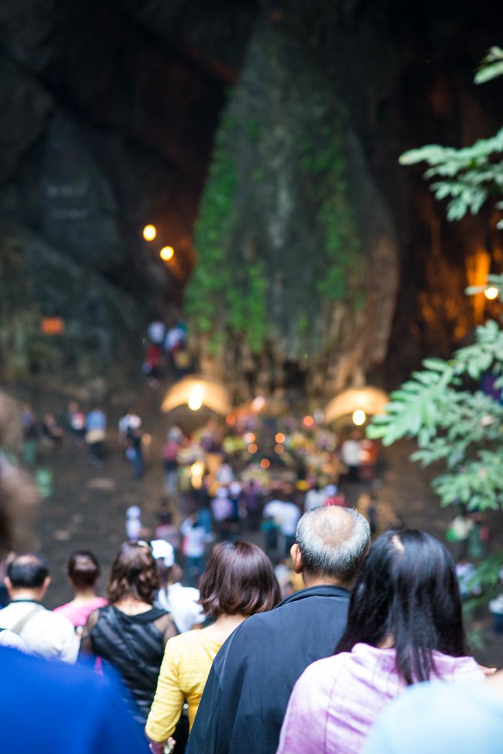 Heading down into the cave at The Perfume Pagoda. Hanoi, Vietnam