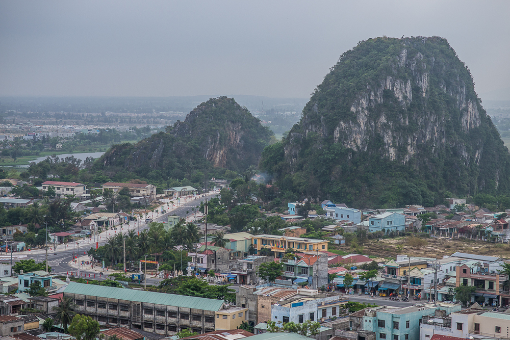 View from Marble Mountain. Between Hoi An and Danang, Vietnam