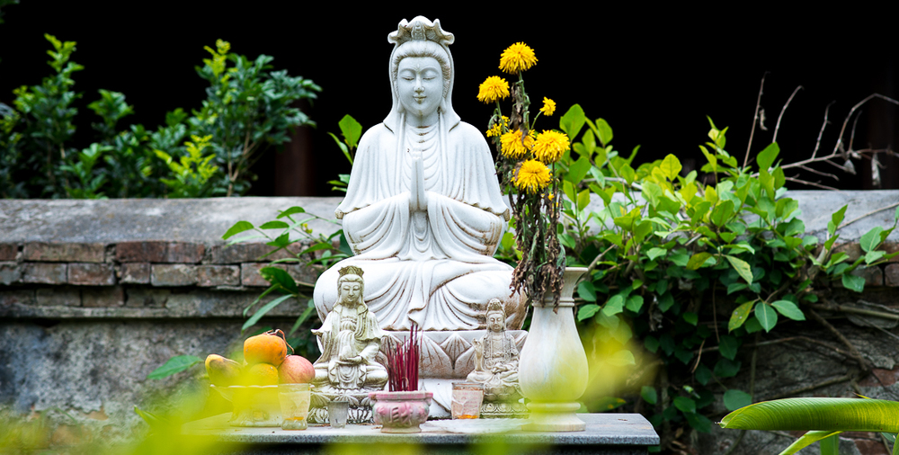 Buddhist altar at Marble Mountain. Hoi An, Vietnam