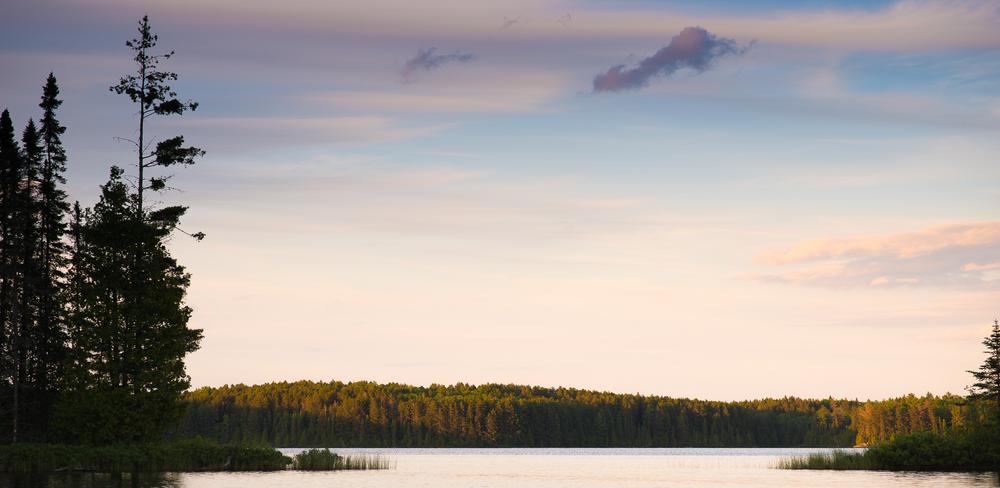 Evening light on Long Island Lake