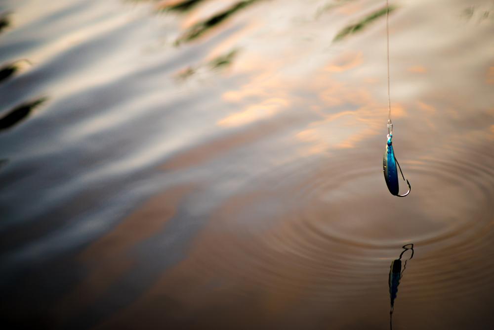 Evening fishing on Long Island Lake