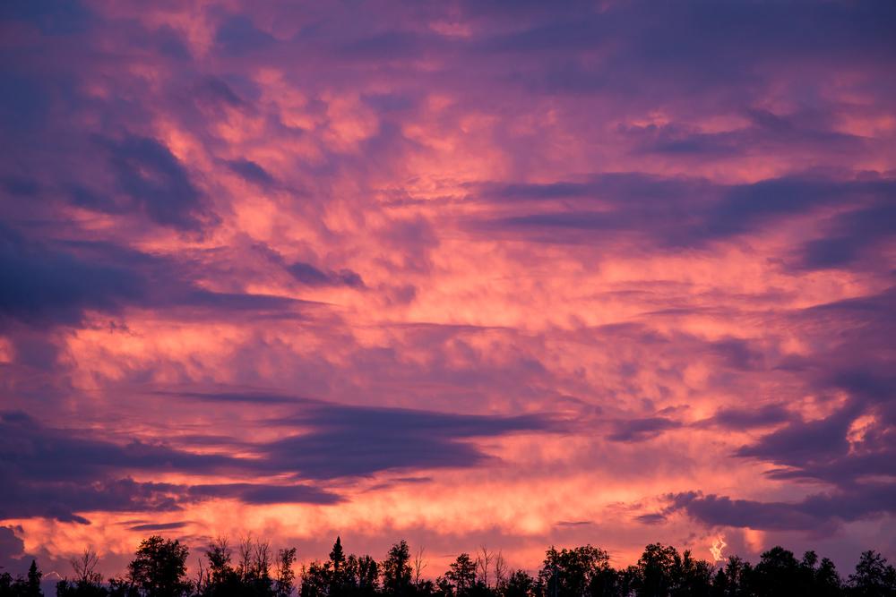 Sunset on Cross Bay Lake