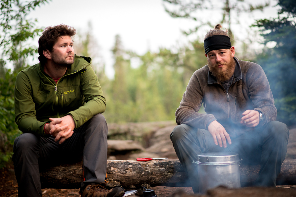 My favorite photo of the trip. Ben and Brian relaxing at camp.