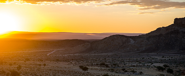 Sunset In The Fish River Canyon, Namibia