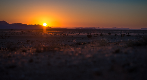 Another sunset in the Namibian desert.
