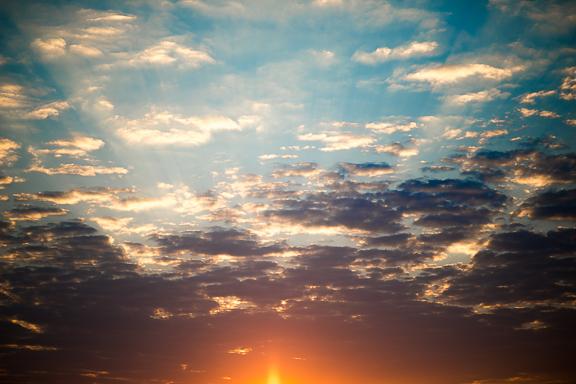 Sunrise Sky in the Namib desert.