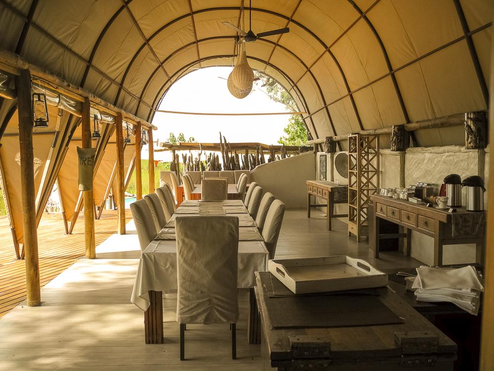 Camp Okuti dining