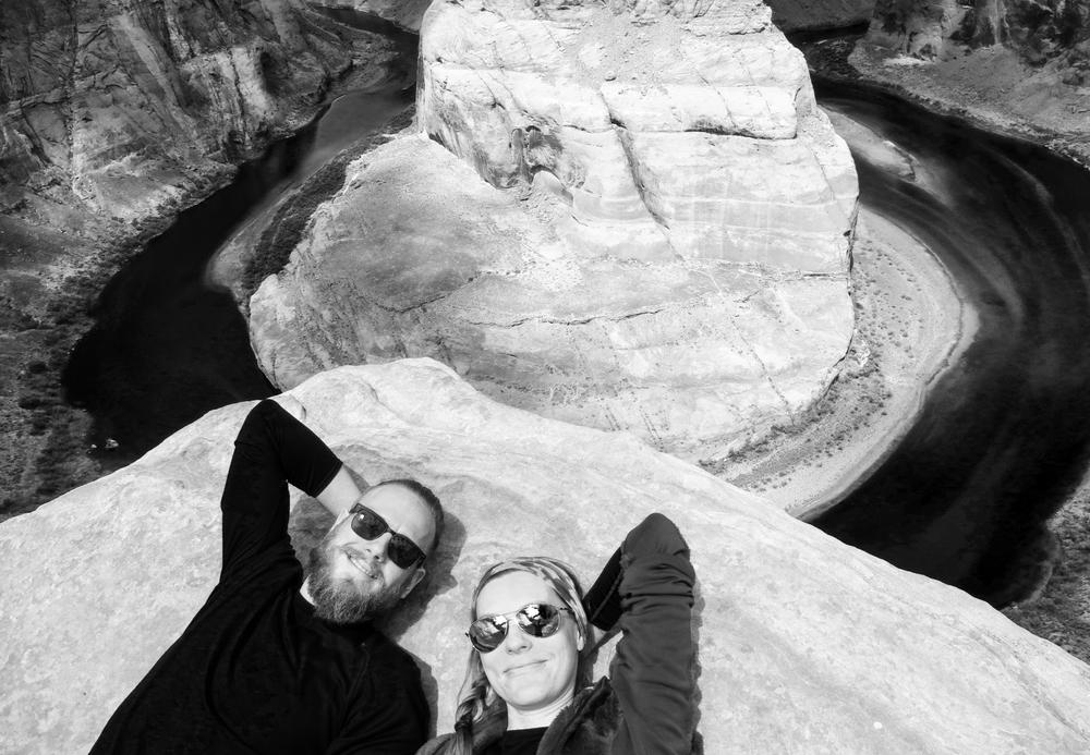 Ben and Kasha at Horseshoe Bend...
