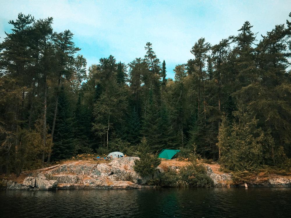 Cherry Lake campsite...
