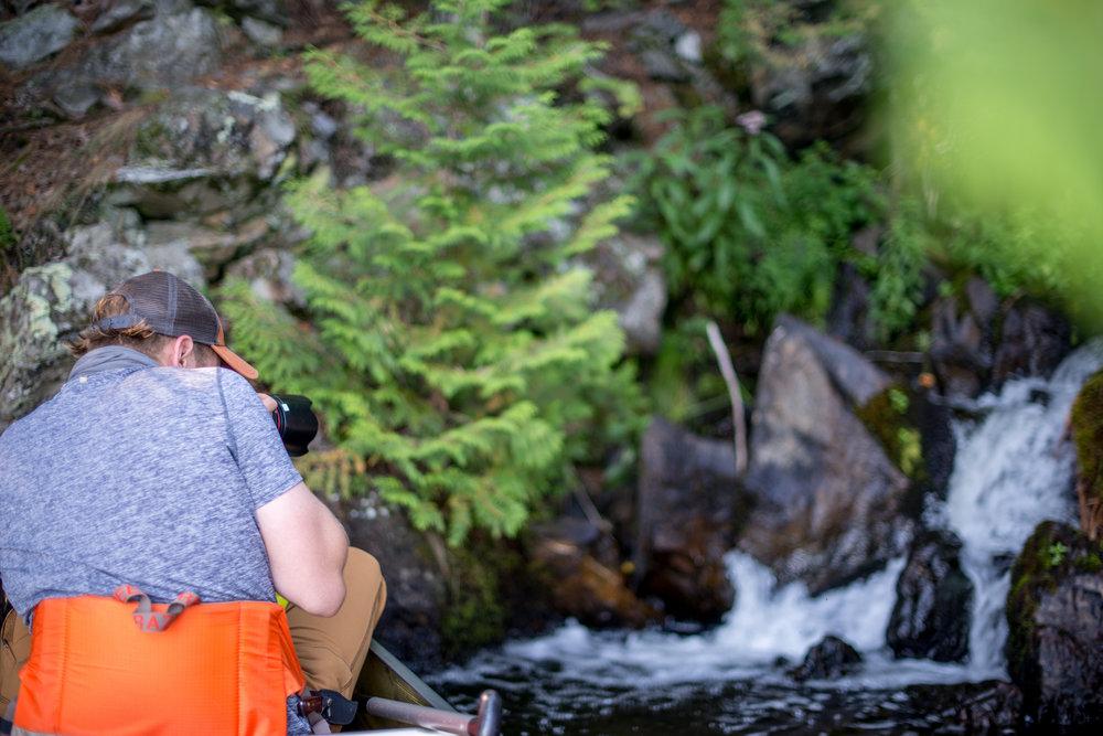Enjoying The Waterfall We Found...