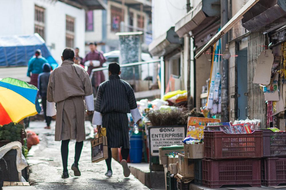 Side street in Thimphu