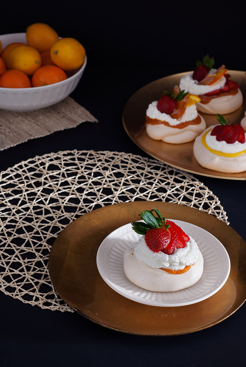Triple Orange Mini Pavlova | breadandbrushstrokes.com