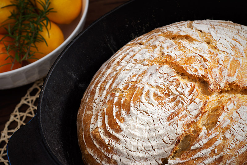 Meyer Lemon & Rosemary Bread | breadandbrushstrokes.com