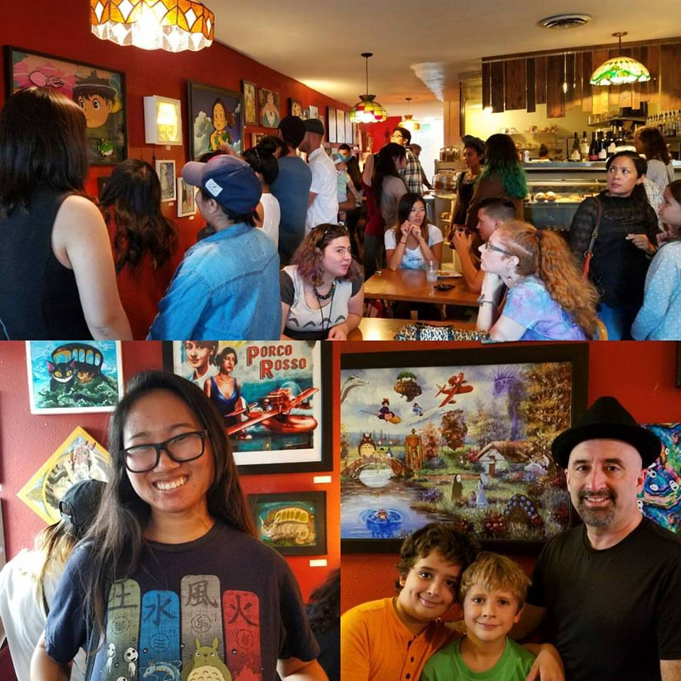 The Opening Reception at Subterranean Coffee Boutique, September 30 2018. What a joy to be surrounded by so many smiling faces and talented artists! (Photos taken by Thumbprint Gallery)
