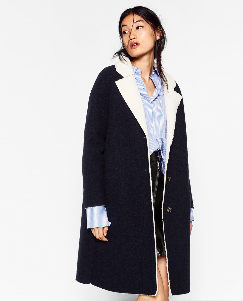 Zara COAT WITH FLEECY INTERIOR