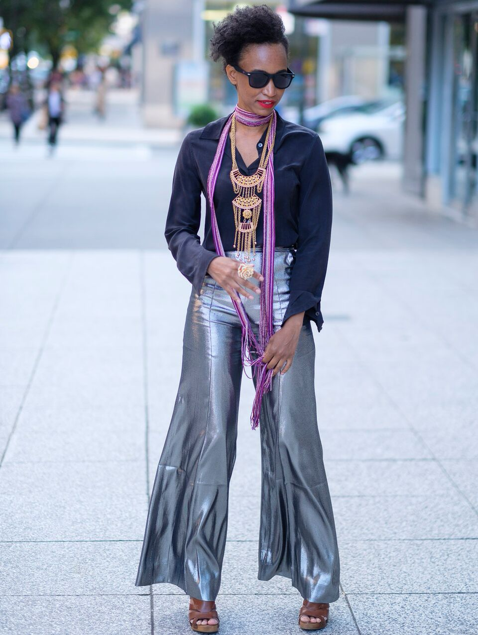 Christine_The_Syle_D'affaire_nyfw_wanda_nylon_silver_silk_blend_lame_wide_ leg_pants_missoni_scarf_gold__plated_jewelry_cognac_wedges_equipment_blouse_sunglasses_70s_vibes_samshbox_lipsticks.jpg