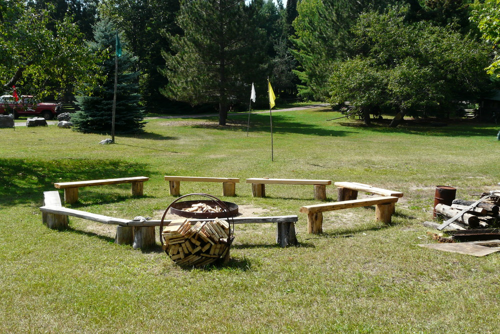 The Cook Shack Bonfire Circle, Built 1974